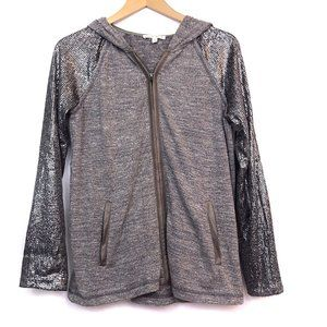 HEM THREAD ANTHROPOLOGIE Sequin Hoodie Sweatshirt